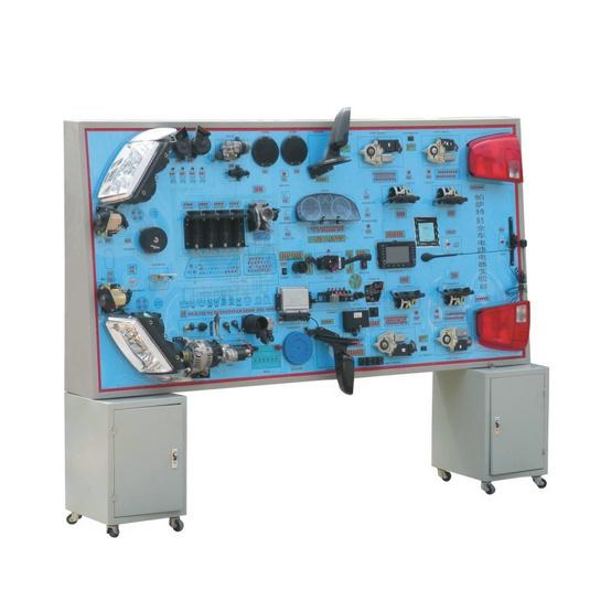 帕萨特B5全车电路电器实训台按照汽车标准电器线路安装而成。全车电器实物为基础,展示灯光系统、仪表系统、点火系统、起动系统、充电系统、发动机电控系统、喇叭系统、电动车窗系统、电动门锁系统、雨刮系统、音响等各系统的组成结构和工作过程。教师在实训台上任何部件制造故障由学生自行排除,拆掉各路保险丝、继电器、台面上电器接头,由学生按照电路图自行安装可达到实习目的。该实训台适用于军队、汽车培训机构、中高等职业技术院校及普通教育类学院和培训机构对汽车全车电器系统的理论和维修实训的教学需要。本设备满足汽车职业教育的&ld