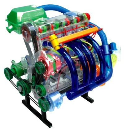 my-80227 桑塔纳发动机模型