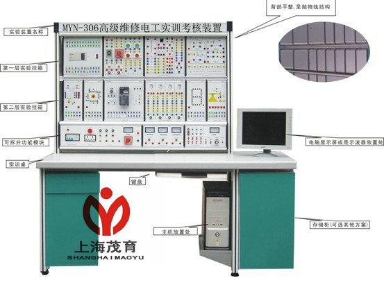 《中级维修电工》和《高级维修电工》教材要求的电气控制电路,通过