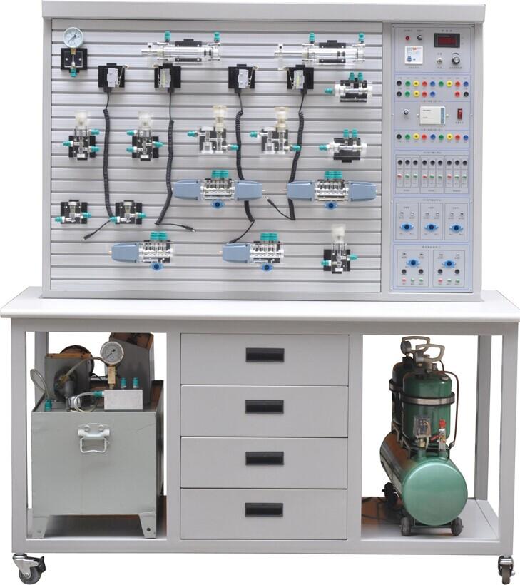 实训气路,控制电路安全可靠,设有手动,自动,顺序等控制功能.