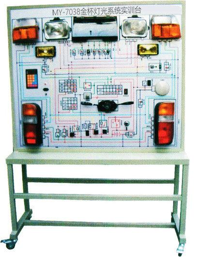 2,汽车灯光系统实训台各灯光仪表工作正常,所有开关齐全.